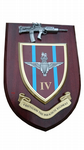4 bn IV Parachute Regiment Military Wall Plaque + Pewter SA80
